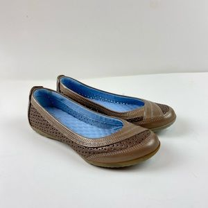 Clarks Privo Leather Flat Slip On Shoes Comfort